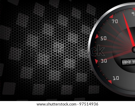 Racing background with tachometer
