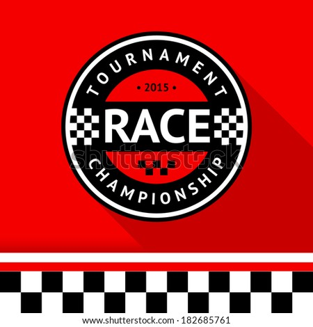 racing badge 14  vector