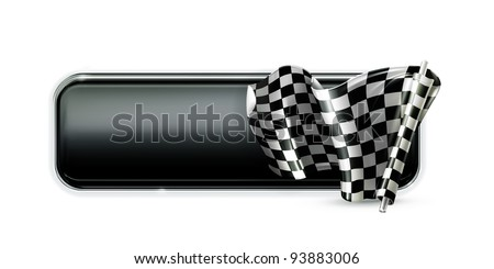 Racing banner flag, vector