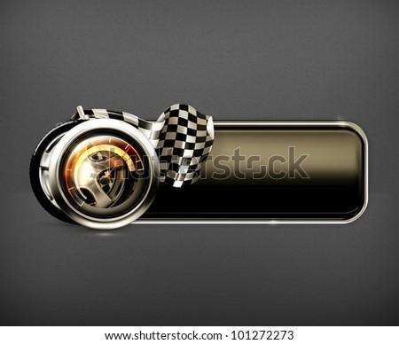 Racing banner, vector