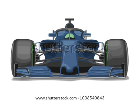 racing blue car with protection