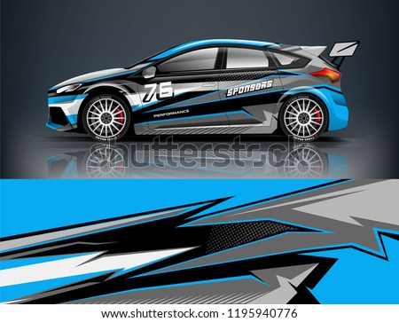 racing car decal wrap design