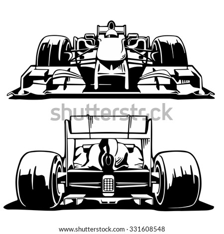 racing car formula 1 front and
