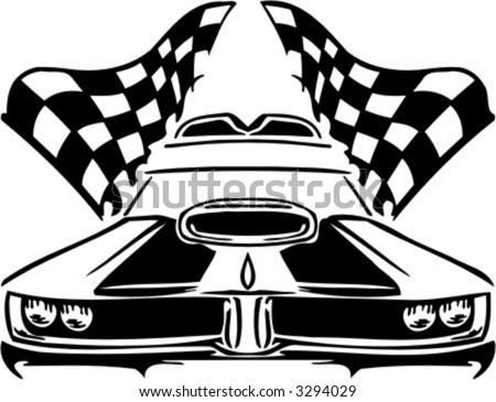Auto Street Racing Cars on Racing Car  Vector Illustration    3294029   Shutterstock