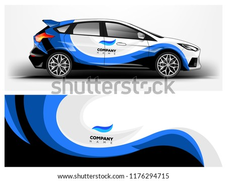 Racing car wrap. abstract strip for Company car wrap, sticker, and decal. vector eps 10 format.