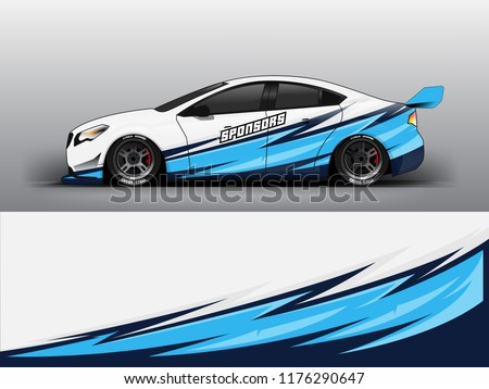 Racing car wrap. Blue abstract strip for racing car wrap, sticker, and decal. vector eps 10 format.