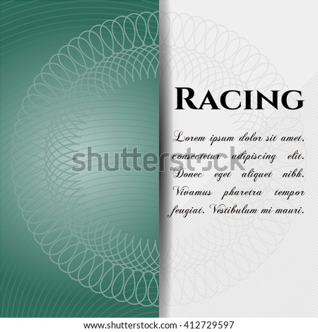 Racing card, poster or banner
