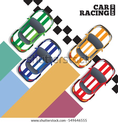 racing cars at the finish line