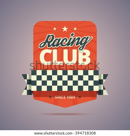 racing club badge vintage