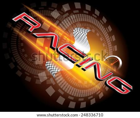 racing concept vector