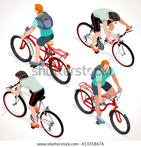 racing cyclist group riding
