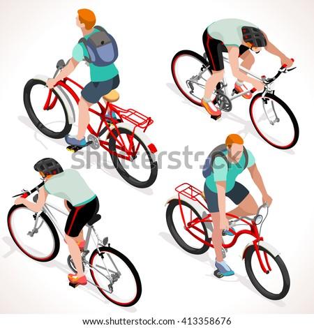 racing cyclist group sportsman