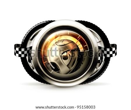 Racing emblem, vector