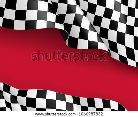 racing flag canvas realistic