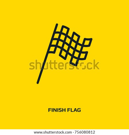 Racing flag icon. Finish or checkered flag sign. Star logo. Sport race flag symbol. Win icon