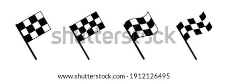 Racing flag icon vector. race flag icon.Checkered racing flag icon