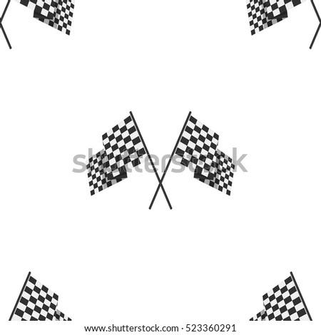 racing flag seamless pattern