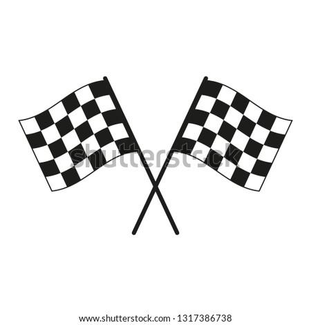Racing flag. Simple vector illustration.