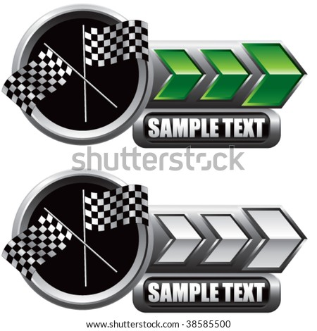 racing flags on shiny arrow banners