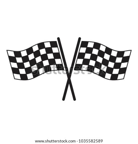 Racing flags vector