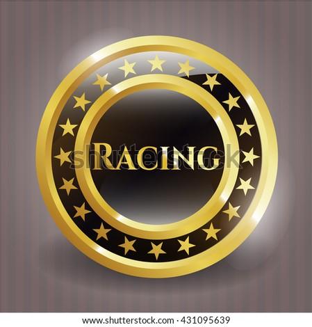 Racing golden badge
