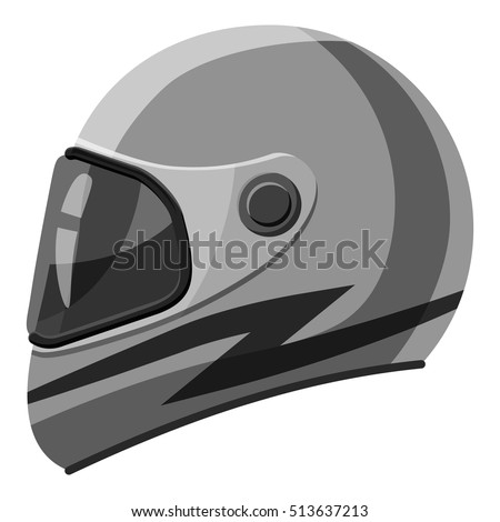 racing helmet icon gray