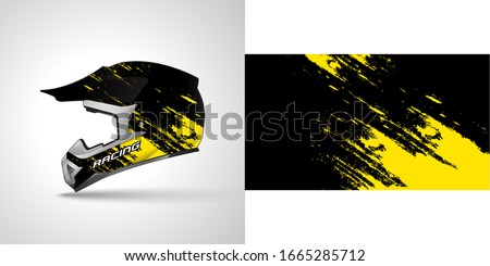 racing helmet wrap decal and