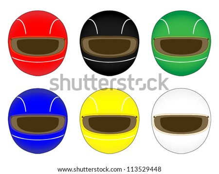 Racing Helmets in Different Colours