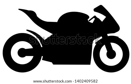 racing motorbike isolated logo