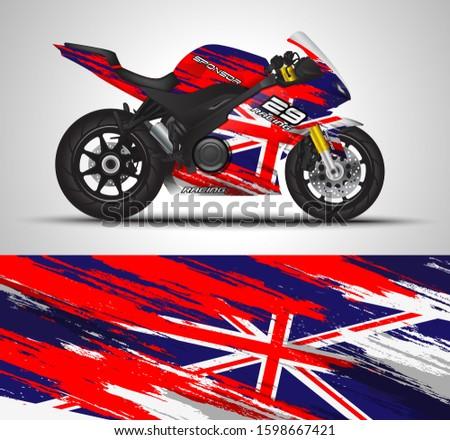 racing motorcycle wrap decal