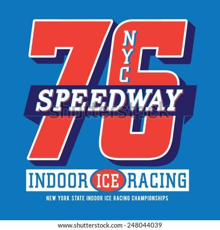 racing new york typography  t