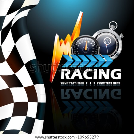 Racing poster vector illustration