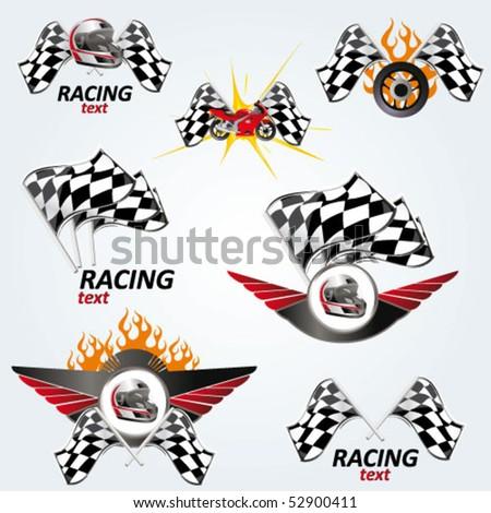 racing set - vector signs