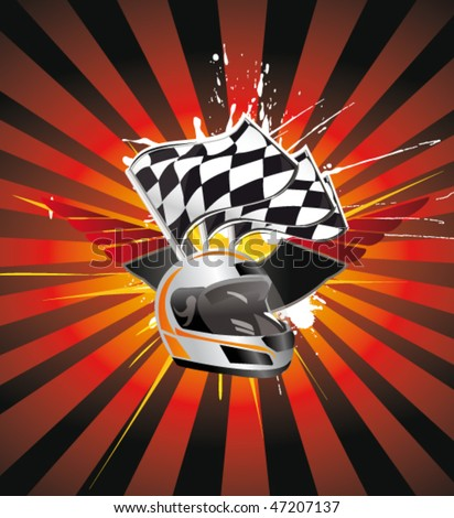 Background Auto Racing on Racing Sign On The Ray Background Stock Vector 47207137   Shutterstock