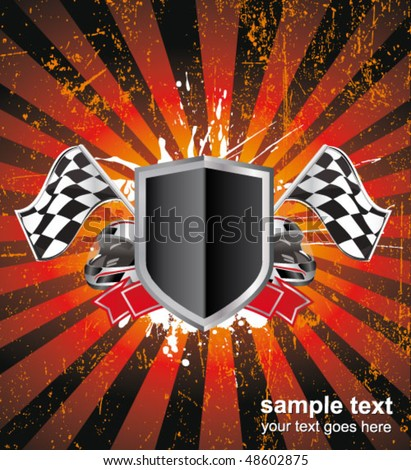 Background Auto Racing on Racing Sign On The Ray Background Stock Vector 48602875   Shutterstock