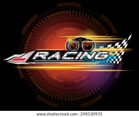 racing sign vector