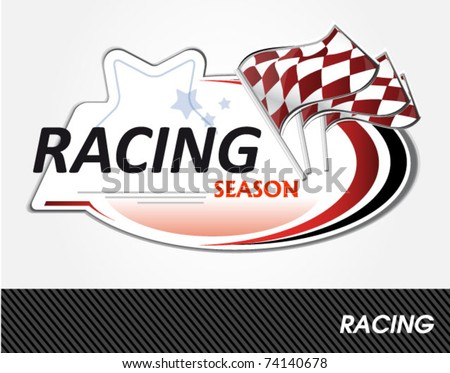 Auto Racing Plaques on Racing Sign   Vector Illustration   74140678   Shutterstock