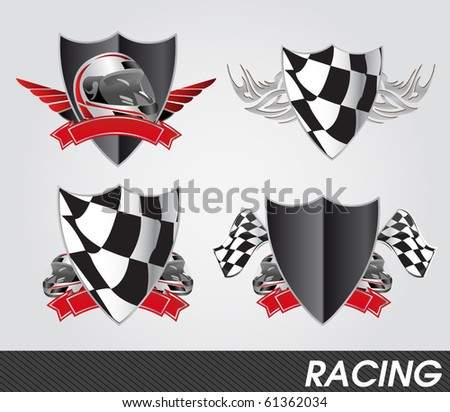 Auto Racing Plaques on Racing Signs Stock Vector 61362034   Shutterstock