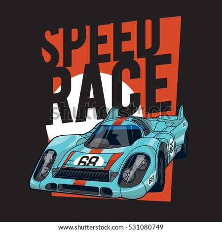 racing speed car typography  t...