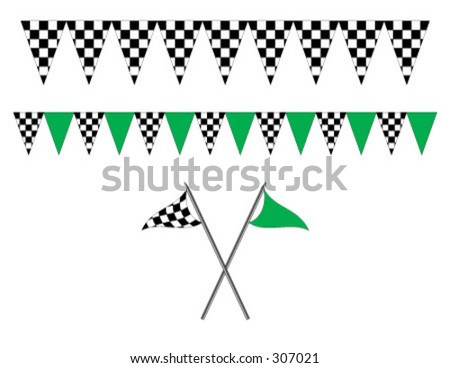 Auto Racing Banners on Racing Stlye Pennants And Banners Stock Vector 307021   Shutterstock