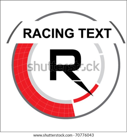 Racing symbol in vector style