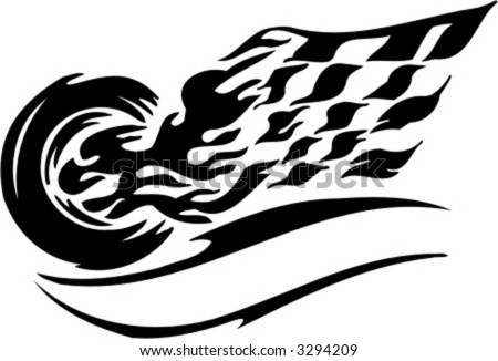 Racing Symbol. Vector Illustration.