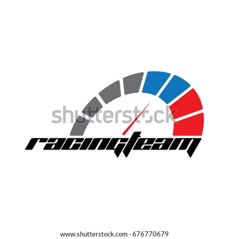 racing team logo template  for