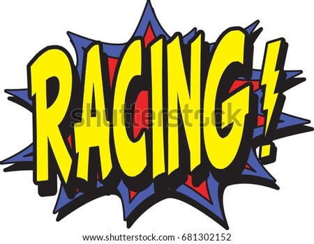 racing typographic illustration