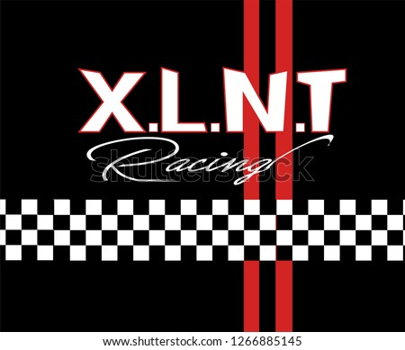 Racing Vector Illustratıon.tee graphic.