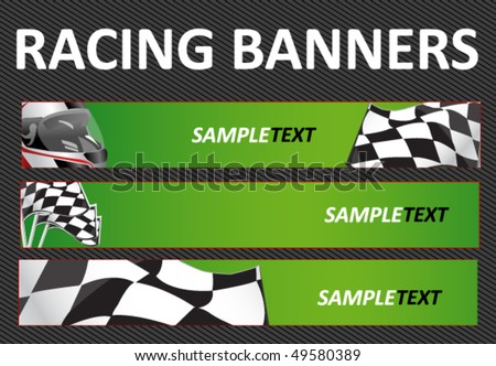 Background Auto Racing on Racing Web Banners Stock Vector 49580389   Shutterstock
