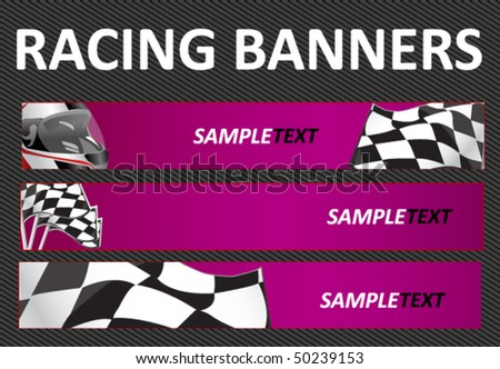 Auto Racing Banners on Racing Web Banners Stock Vector 50239153   Shutterstock