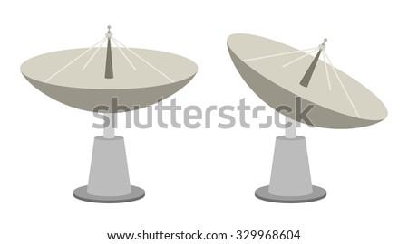 Radar dish antenna for broadcast
