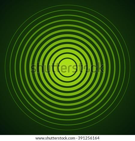 radar screen concentric circle