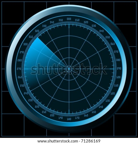 Radar screen (or sonar) - vector